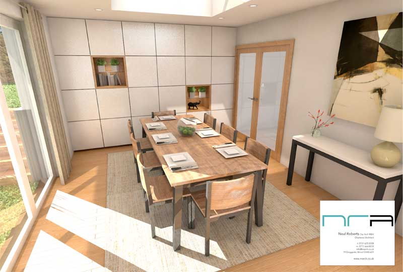 3D render of interior, Heswall , Wirral
