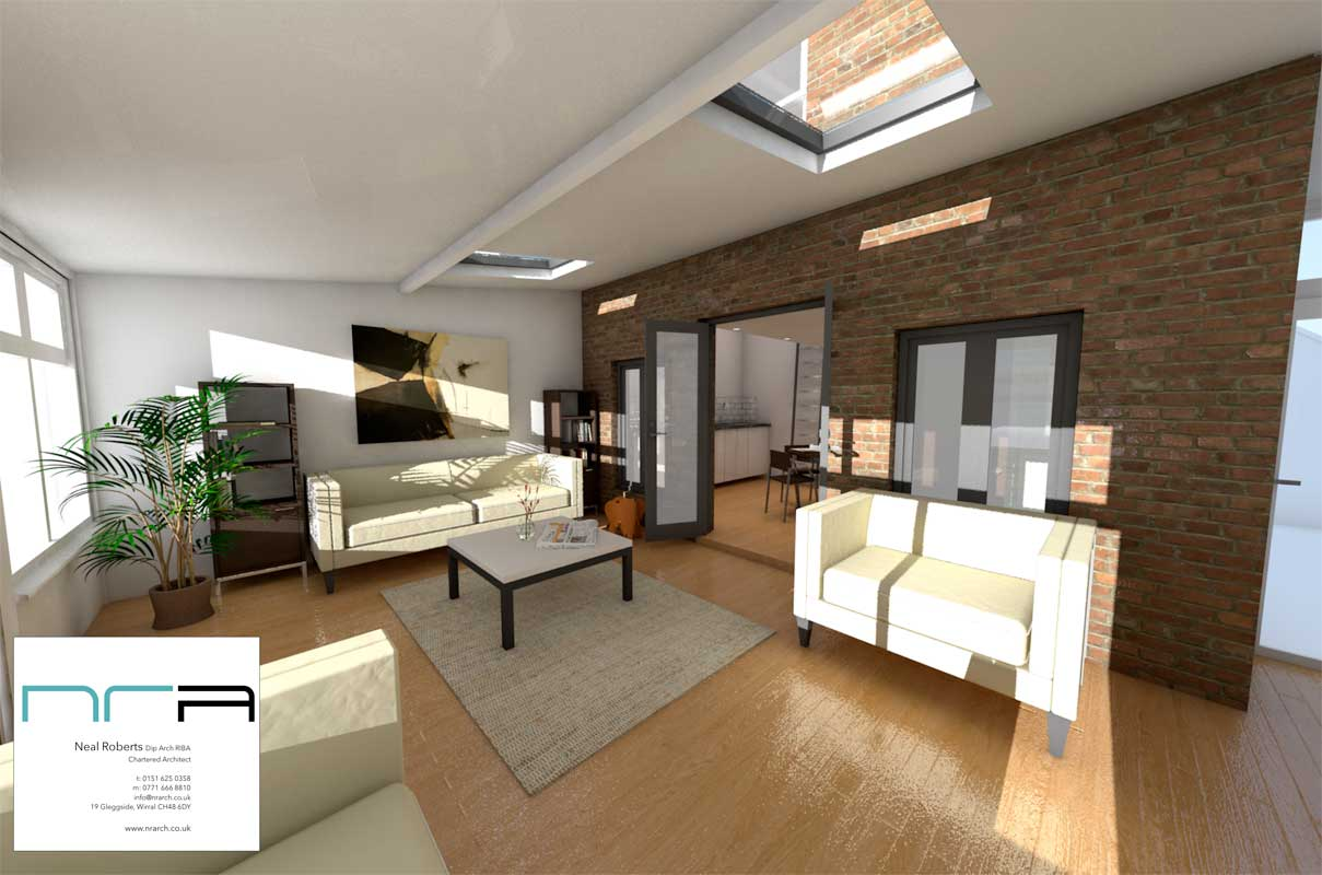 3d internal of new lounge space