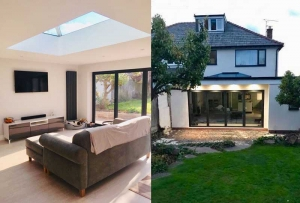 Various photos of extension completed